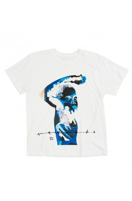 "T-shirt ""New fighter"" 100% cotton, made in Italy"