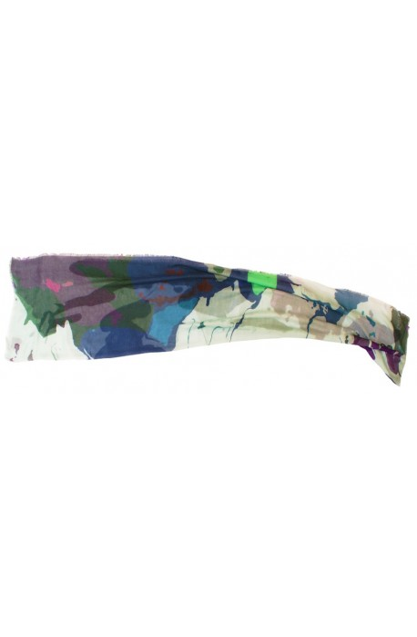 """Scarf in modal and cachemere theme """"Reykjavic"""", made in Italy"""