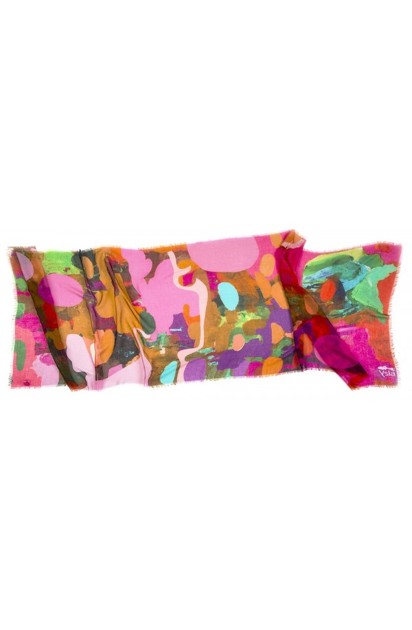 """Scarf in modal and cachemere theme """"Barcelona"""", made in Italy"""