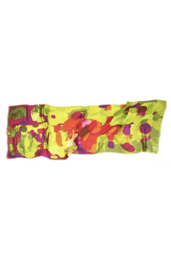 """Scarf in modal and cachemere theme """"Fuerteventura"""", made in Italy"""