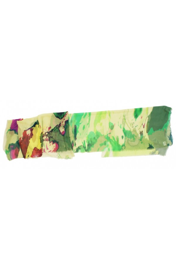 """Scarf in modal and cachemere theme """"Mallorca"""", made in Italy"""