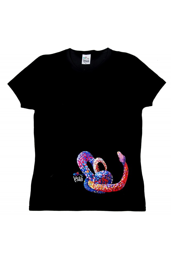 """T-shirt """"Snake"""" 100% cotton, made in Italy"""