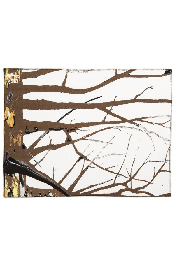"""Tovaglietta in 100% cotone con tema """"Brown tree"""", made in Italy, set di 2."""
