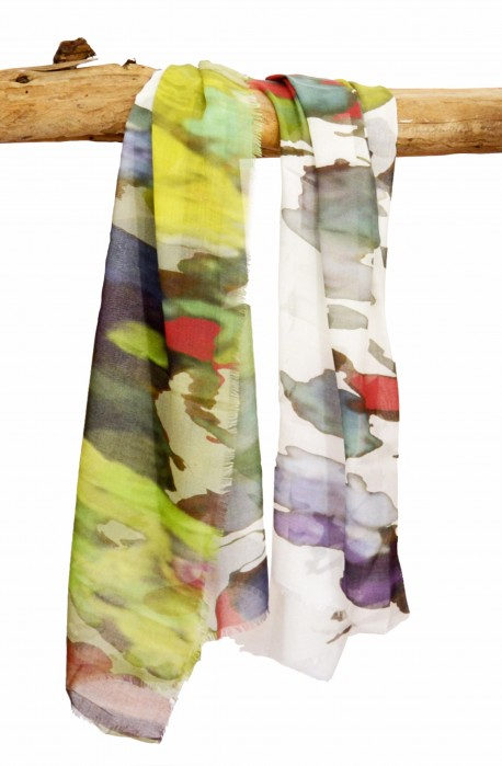 "Scarf in modal and cachemere theme ""Berlin"", made in Italy"
