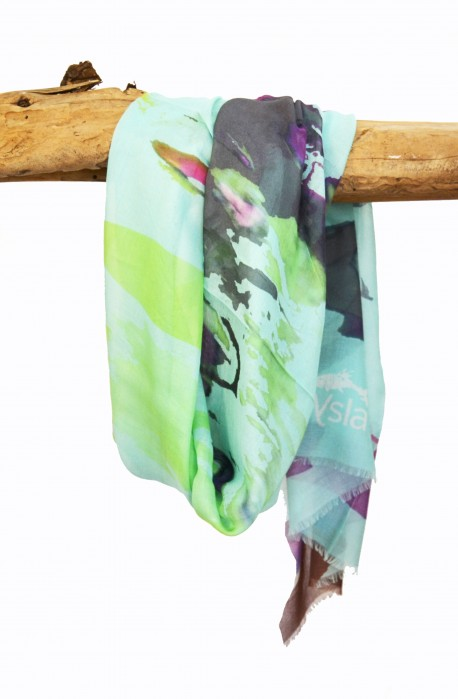 """Scarf """"Minorca"""" in modal and cashmere, made in Italy"""