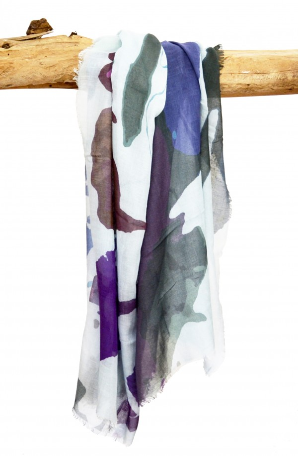 "Bufanda ""Reykjavic"" en modal y cashmere, made in Italy"