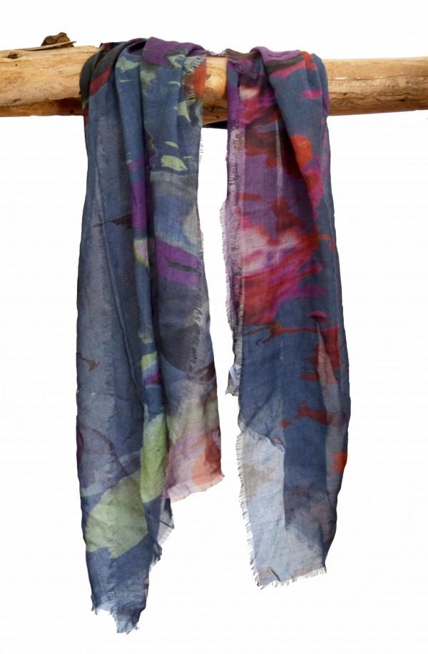 """Bufanda """"Formentera"""" en modal y cashmere, made in Italy"""