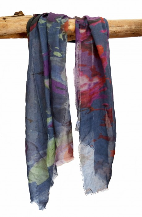 "Scarf in modal and cashmere ""Formentera"", made in Italy"
