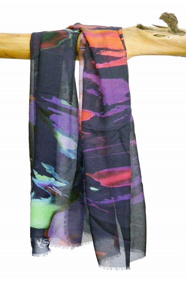 """Scarf """"London"""" in modal and cashmere, made in Italy"""
