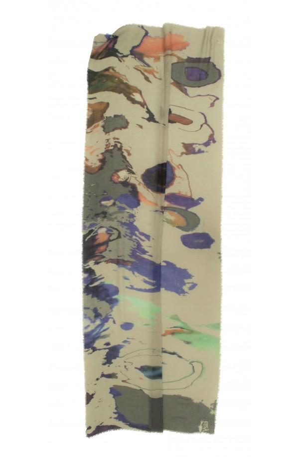 """Sciarpa in cashmere e cotone con tema """"Vientienne"""", made in Italy"""