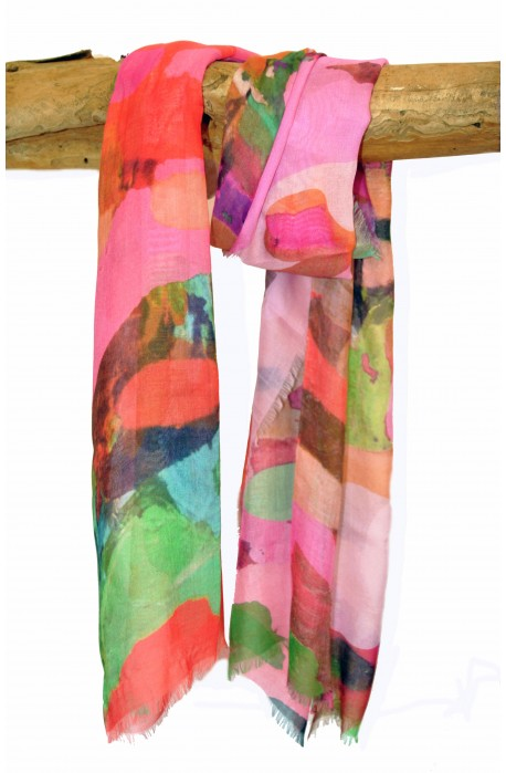 "Scarf ""Barcelona"" in modal and cashmere, made in Italy"